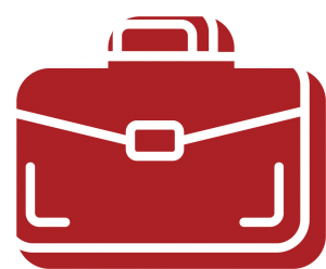 A briefcase icon for Bryant Law's areas of practice, for Business and LLC legal work and specialty