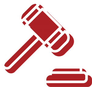 A gavel icon for Bryant Law's areas of practice, for Probate Court, Family Law and Divorce legal work and specialty